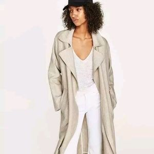 NWT Zara Linen Trench Coat
